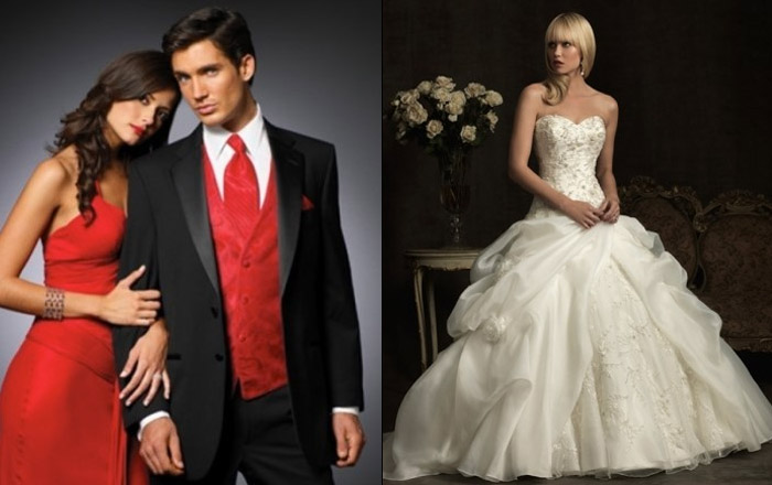 wedding dress and prom dresses