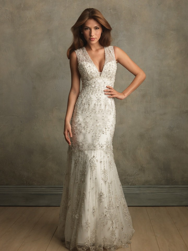 Allure couture bridal gown style c167 for Allure short wedding dress