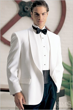 White Dinner Jacket Rental - Style DW